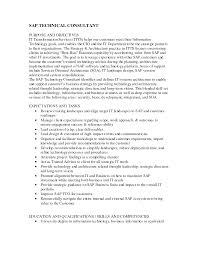 Sample Resume For Sap Mm Consultant Sap Mm Consultant Resume Sample Free Resume Example And Writing