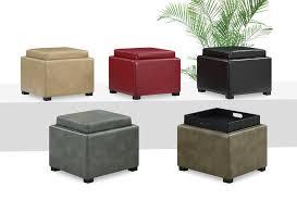 Ottoman With Tray Storage Ottoman With Tray Black Dans Design Magz Storage