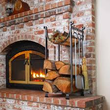 exterior indoor circular metalic fire wood combined with yellow