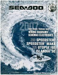 sea doo boat wiring diagram 200 speedster speedster wake 205