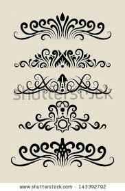 swirl ornament 1 floral ornaments black stock vector 135070544