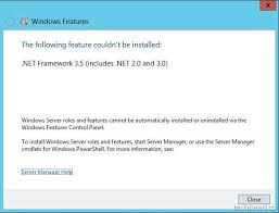 install windows 10 esxi 5 5 vmware vcenter server the following feature couldn t be installed