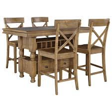Chippendale Dining Room Table Signature Design By Ashley Trishley 5 Piece Counter Table W