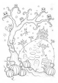 halloween coloring pages adults justcolor