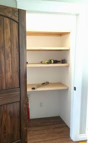 easiest pantry or closet shelving ana white woodworking projects