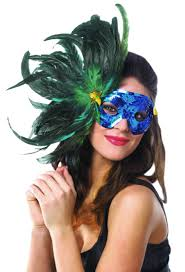 feather masks blue feather costume mask costume craze