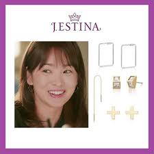 j estina earrings qoo10 j estina earring jewelry