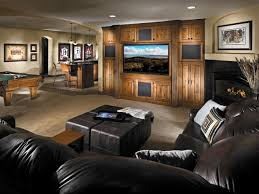 Finished Basement Carpet Wooden Panel Wall With Fireplace Basement Finishing Ideas Have