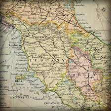 Vintage Map Tuscany Italy Region In A Vintage Map Atlas Photograph By Elite