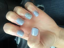 dreamy pale blue powder blue and glitter silver sparkle nails