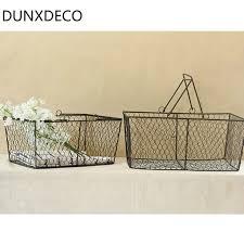 panier de basket chambre dunxdeco stockage de bureau à domicile fil de fer panier flores