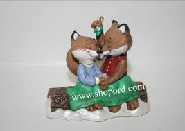 hallmark 2001 our first christmas together fox ornament qx8405