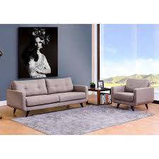 Fabric Sofa Set Geffen 2 Piece Fabric Sofa Set Gray
