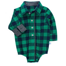 ruffle navy and green buffalo plaid onesie for baby boys