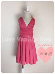 junior bridesmaid dress infinity dress raspberry convertible