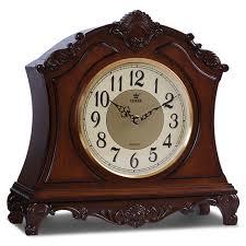 desk clock power high end solid wood desk clock silent quartz movement table