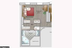 plan de chambre avec dressing et salle de bain chambre avec salle de bain et dressing le cloisonnement de cette