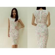floral print pencil dress with belt cream s m