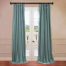 Raw Silk Drapery Panels by Blue Agave Yarn Dyed Faux Dupioni Silk Curtain Drapes