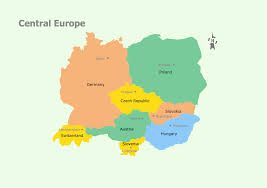 European Country Map by Geo Map Europe