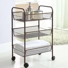 Bathroom Storage Carts Bathroom Storage Neu Home 3 Tier Rolling Cart Rub Bronze