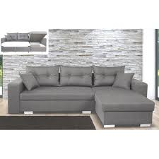 canapé avec coffre canapé d angle à droite convertible avec coffre coloris gris souris