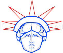 how to draw statue of liberty face step by step monuments