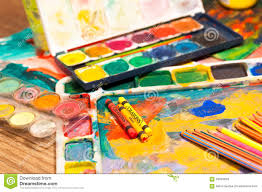 painting and craft supplies stock photo image 55574769
