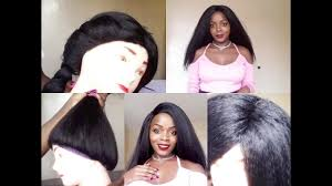 are there any full wigs made from human kinky hair that is styled in a two strand twist for black woman how to make a full wig without a closure youtube
