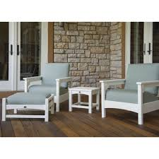 Polywood Long Island Recycled Plastic Polywood Club 4 Piece Lounge Chair Set Pw Club Set2