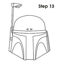 how to draw boba fett