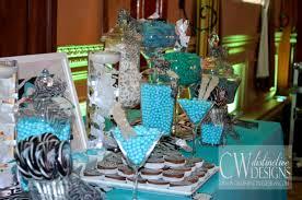 tiffany colored candy tiffany blue zebra print candy buffet