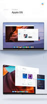 apple os macos 2020 with edge to edge macbook concept