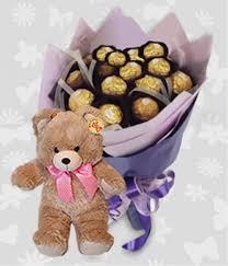 Teddy Bear Delivery Bouquet With Bear