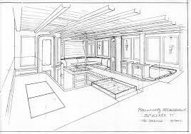 croquis d u0027un concept en cylindre au centre d u0027un appartement