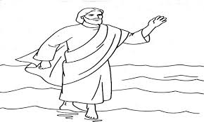 walks on water coloring page 28 images jesus walking on water