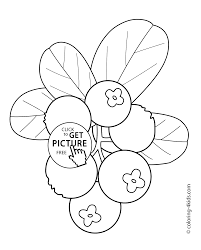 cowberry fruits and berries coloring pages for kids printable