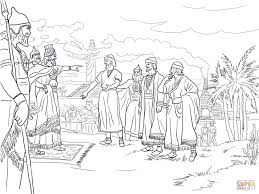 shadrach meshach and abednego before king nebuchadnezzar coloring