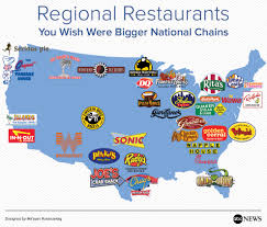 In And Out Map Regional Restaurants You Wish Were Bigger National Chains