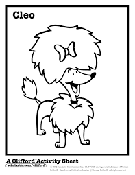 clifford coloring pages print cleo gif