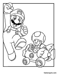 printable mario toad coloring kit mario bros
