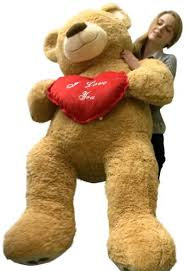 big valentines day teddy bears i you teddy 5 foot soft 60 inch holds heart