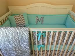 Gray Chevron Crib Bedding Bedding Modern Gray And Aqua Crib Bedding Via Etsy Baby Aqua