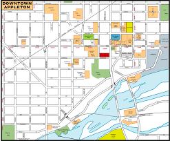 Wisconsin Usa Map Downtown Appleton Map Downtown Appleton Wi Usa U2022 Mappery