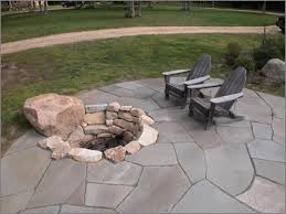 Stone Patio With Fire Pit Exterior Terrific Landscape Design With Natural Stone Flooring