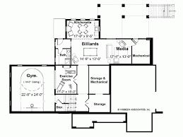 eplans european house plan lower level recreation area 3774