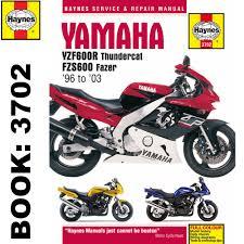 yamaha yzf600r thundercat fzs600 fazer 1996 2003 haynes workshop