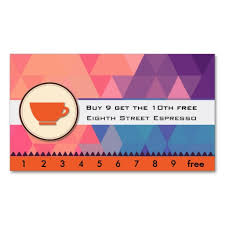 espresso coffee punch card business card template business cards
