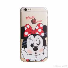 cool cute minnie mouse transparent gel tpu silicone soft shell