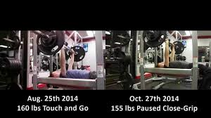 Close Grip Bench Press Benefits Bench Press Comparison Paused Vs Touch And Go Youtube